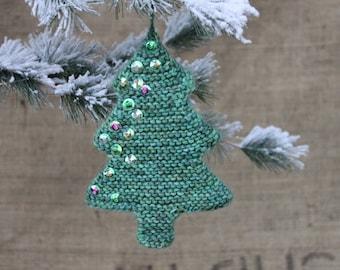 knitting pattern christmas tree ornament tree decoration etsy