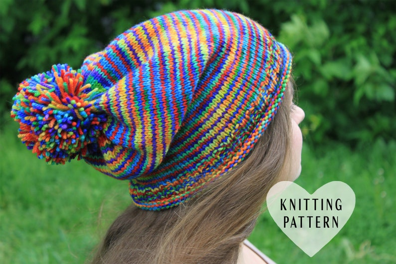 1c6c5e3d238 KNITTING PATTERN Rainbow Hat pride hat knitted hat rainbow