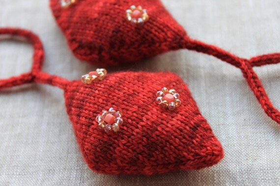 LEARN TO KNIT Pattern 9 Christmas Ornaments Hanging   Etsy