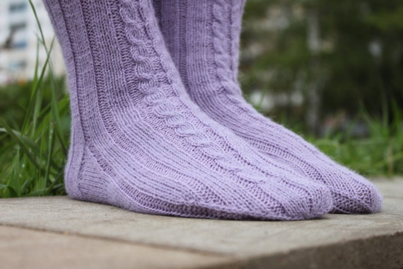 Knitting Pattern Awesome Possum Socks Cabled Knit Etsy