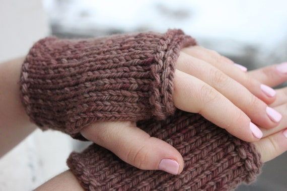 Learn To Knit Pattern 2 Wrist Warmers Knitting Lesson Easy Etsy