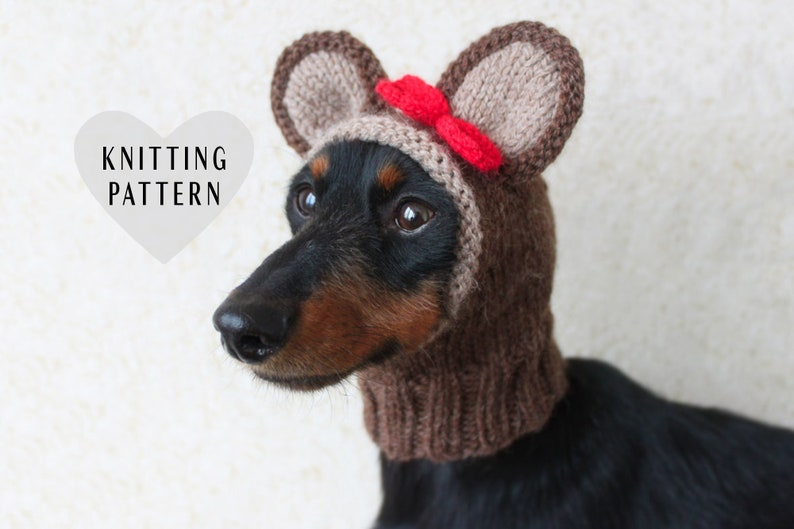 7a632e61614 KNITTING PATTERN Teddy Bear Dog Hat Small Dog Bear Hat Bear