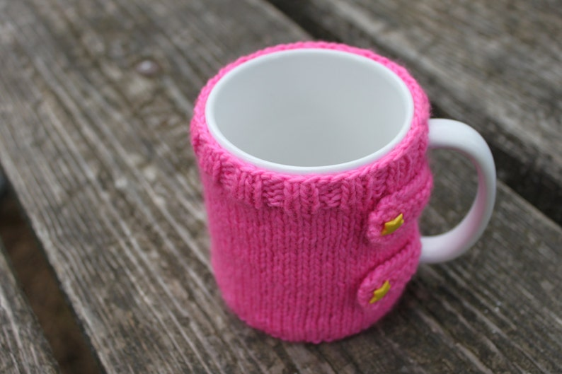 KNITTING PATTERN Mug Sweater Mug Cozy Knit Knitted Tea | Etsy