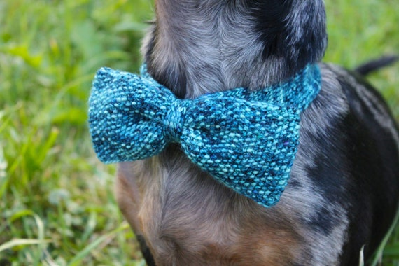 Knitting Pattern Knitted Dog Bow Tie Wedding Dog Clothes Etsy