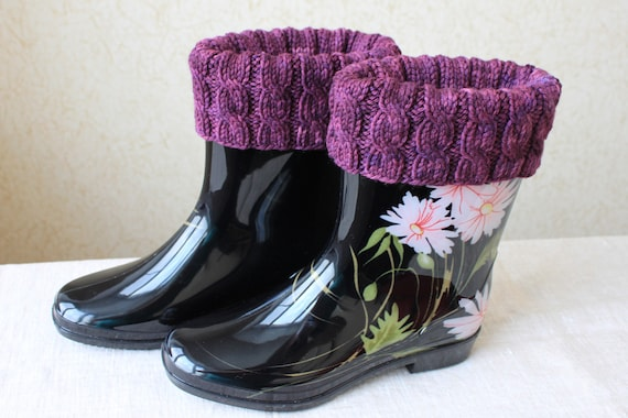 Knitting Pattern Boot Toppers Boot Cuffs Cabled Boot Cuffs