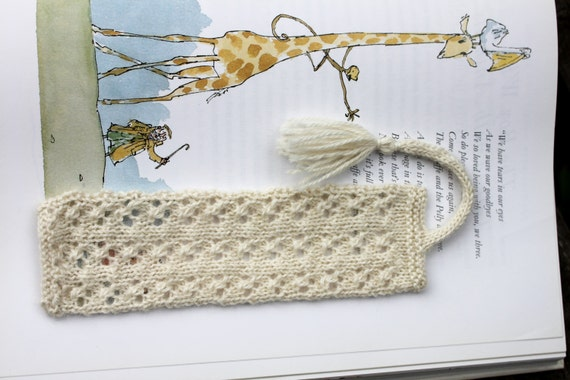 Knitting Pattern 3 Knitted Bookmarks Knit Knitted White Etsy
