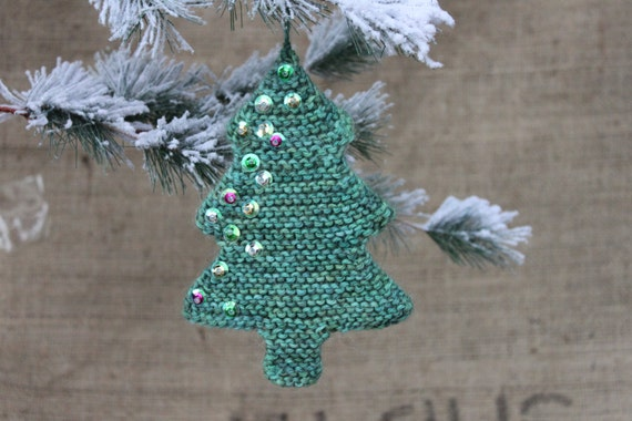 Knitting Pattern Knitted Christmas Tree Ornament Knit Etsy