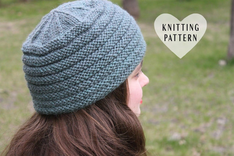 f9e20f06718 KNITTING PATTERN Comfy Hat knit hat knitted hat beanie