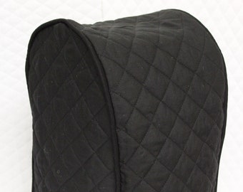 Black Quilted Food Processor Cover