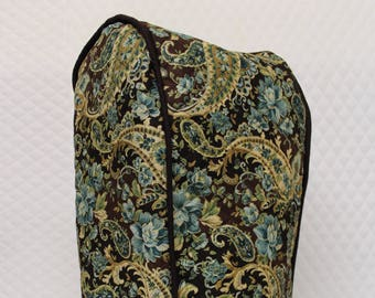 Brown Paisley Quilted Blender Cover