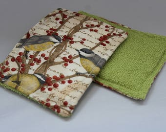 Washable Sponges - Birds and Berries