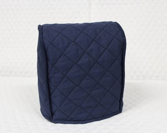 Navy Quilted Small Universal Appliance Cover
