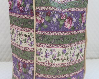 Grape Floral Stripe Blender Cover