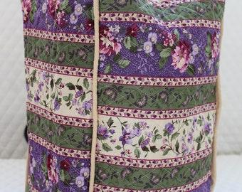 Grape Floral Stripe Ninja Blender Cover