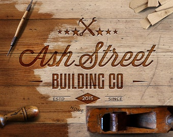 Logo Design - Vintage Logo - Business Branding - Renovation and Restoration - Construction and Home - Retro Logo - Home Builders