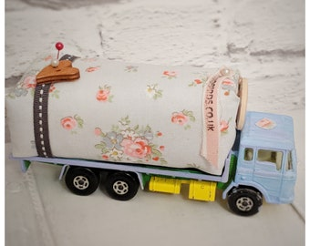 Novelty repurposed pin cushion/needle cushion/pin and needle minder/sewing gift/vintage upcycled toy