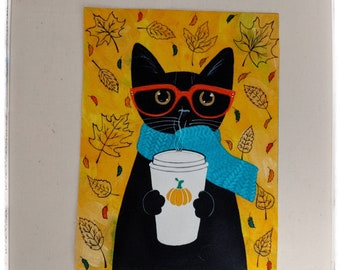 Fabric cotton panel for quilting/applique novelty print panel/crafts fabric/printed cotton canvas/cat fabric