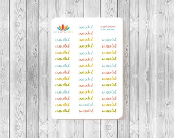 S063 - 38 Canceled Script Planner Stickers