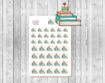 S079 -  39 Books & Coffee Planner Stickers