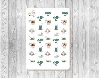 S094 - 34 Tea Planner Stickers