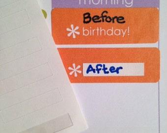S083 - 100 Blank Erin Condren Label Repurpose Stickers ~ Planner Labels