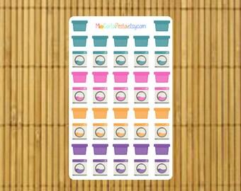 S029 - 42 Washing Machine & Laundry Basket Planner Stickers