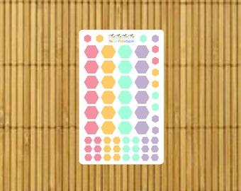 S193 - 60 Hexagonal Color Planner Stickers