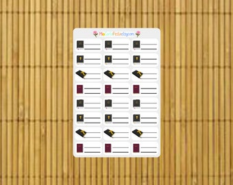 S207 - 24 Bible Study Planner Stickers