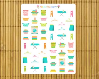 S170 - 52 Laundry Planner Stickers
