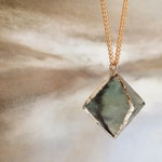 Green Fluorite Diamond Necklace