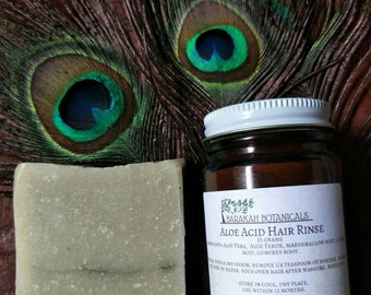Solid Shampoo Bar Bundle | Avocado Shampoo Bar | Acid Hair Rinse | Natural Shampoo Bar | Organic Beauty