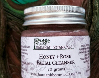 Honey and Rose Facial Cleanser | Soap-free Cleanser | Gentle face wash