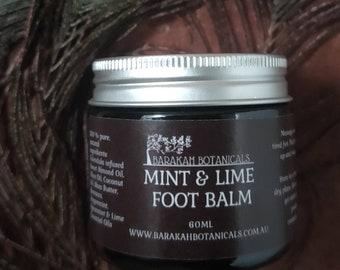 Mint & Lime Foot Balm | Skin Food |  Pregnancy Foot Balm | Beeswax Balm