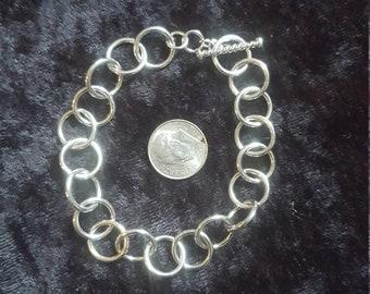 Argentium silver bracelet