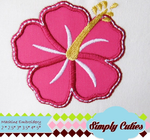 Hibiscus Machine Embroidery Instant Hawaii Flower Embroidery Etsy