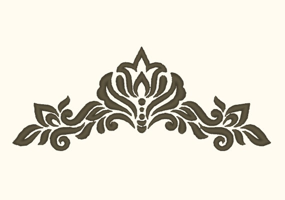 simple damask stencil - 570×401