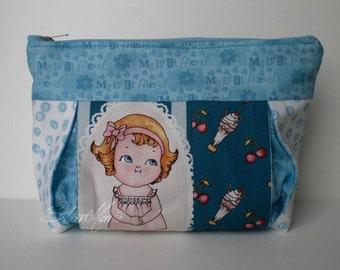 """Make-up bag """"Jessy"""" paper doll SALE"""