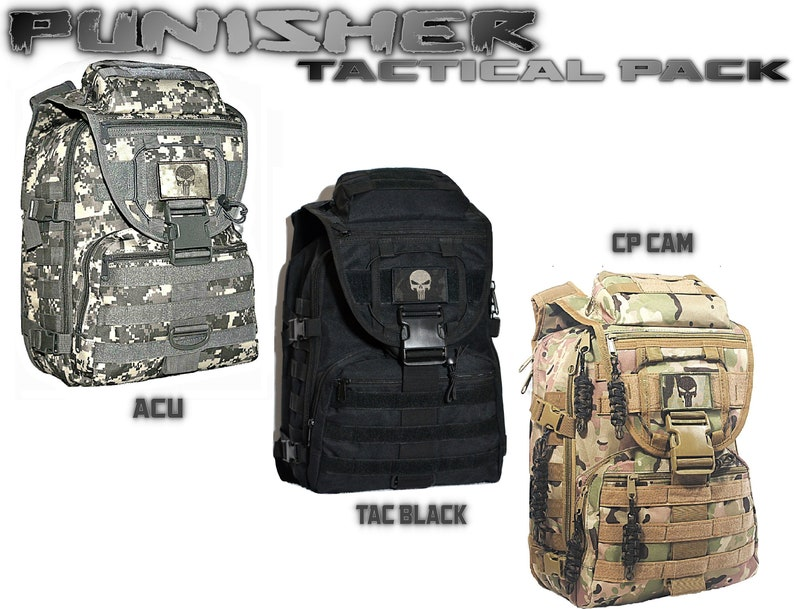 93146031f1d Custom PUNISHER Backpack Molle Pack Messenger Bag Laptop Pack | Etsy