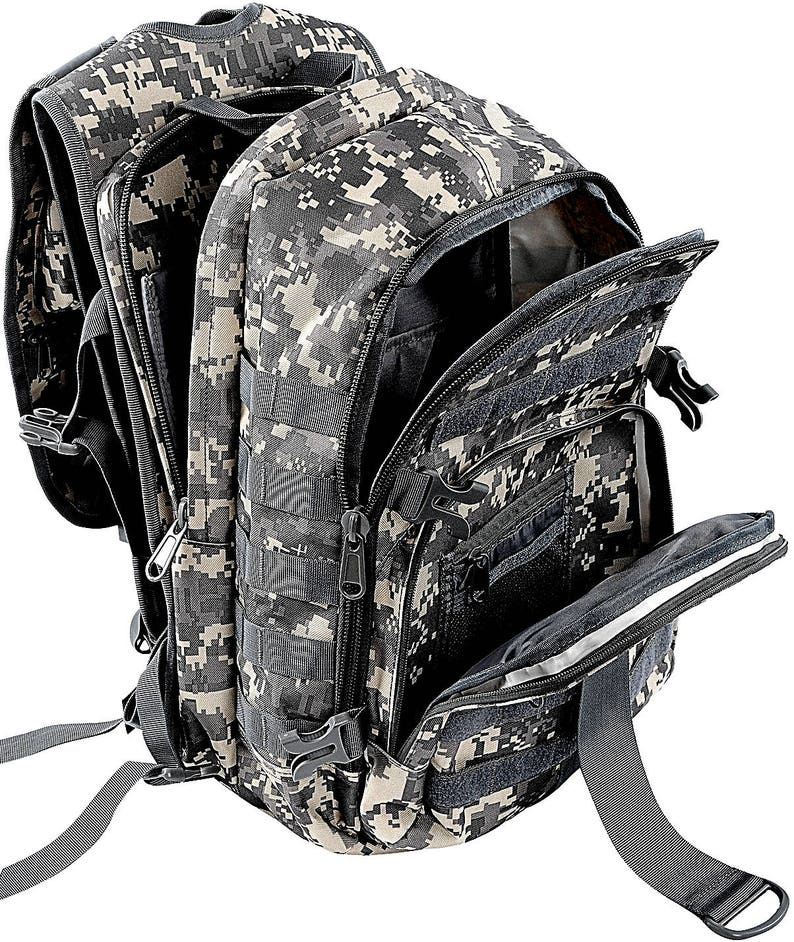 FIN-TECH Fisherman Backpack Color Options Camo Fishing Gear Bag Personalization Options Tackle Box Pack w FREE Plano Tackle Box