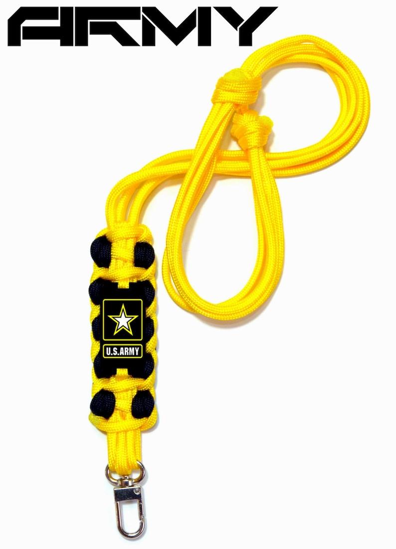 U.S Army Camo Military Lanyard ID Badge Key Holder