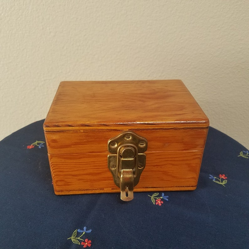 Vintage Wooden Jewelry Box With Lock Rustic Boxsmall Wood Box Storage Secret Stash Container Curiosity