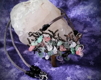 Crystal Tree Statement Pendant Necklace