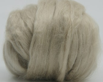 Tussah Silk Top One Ounce Color Sand For Felting or Spinning