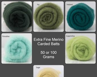 Extra Fine Merino, Carded Batt, Needle Felting, Wet Felting, Short Fiber Merino