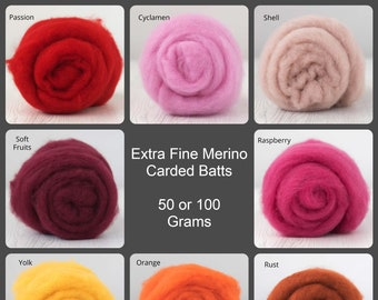 Extra Fine Merino, Carded Batt, Needle Felting, Wet Felting, Short Fiber Merino