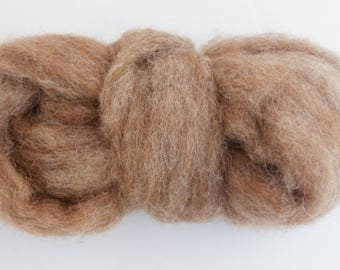 Mouse Bulky Carded Corriedale One Ounce for Needle Felting