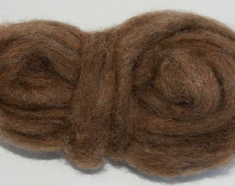 Deer Bulky Carded Corriedale One Ounce for Needle Felting