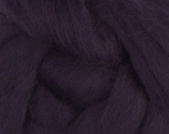 Blackberry Merino Tussah Silk Combed Top Wool Two Ounces for Felting and Spinning