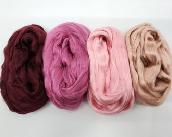 Mulberry Silk Collection Peonies Two Ounces - silk for spinning,felting, silk fusion, paper making, doll hair
