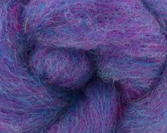 Parma Violet Bulky Carded Corriedale One Ounce for Needle Felting